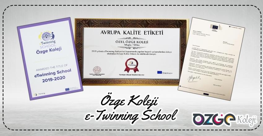 2020-2021 yılı e-Twinning Okul Etiketi ve 2019-2020 Avrupa Kalite Etiketi Ödülü