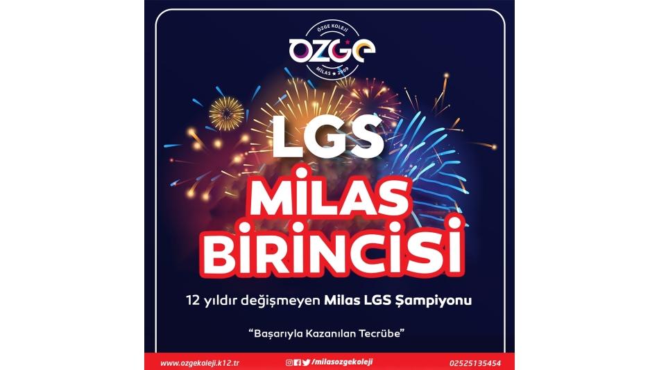 LGS2021 MİLAS BİRİNCİSİ